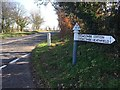 ST1435 : SCC fingerpost on A358 at Flaxpool Hill by Marika Reinholds