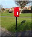 NZ6022 : Elizabeth II postbox on Wheatlands Park Redcar by JThomas