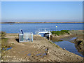 TQ7075 : New sluice installation, Alpha Lake by Robin Webster