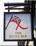 NS2982 : Sign for The Royal Bar by Richard Sutcliffe