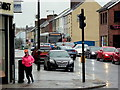 H4572 : A jogger comes round Dublin Road Corner, Omagh by Kenneth  Allen