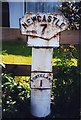 NZ1772 : Old Milepost by IA Davison
