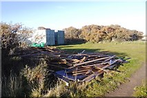 NT4681 : Timber stash by Richard Webb