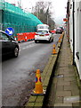 ST0888 : No Parking cones at the edge of Park Street, Treforest by Jaggery