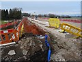 SO8540 : Roadworks on the A4104 at Upton-upon-Severn by Philip Halling