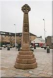 NS2982 : Celtic cross, Colquhoun Square by Richard Sutcliffe