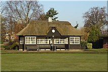 SJ9222 : Shelter overlooking the Bowling Green by Philip Halling