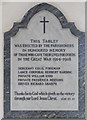 TL7970 : St Lawrence, Lackford - War memorial WWI by John Salmon