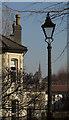 ST5874 : House, spire and lamppost, Redland by Derek Harper
