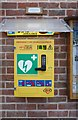 TF0433 : Defibrillator at the village hall by Bob Harvey