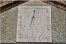 TL8866 : Great Barton: Holy Innocents Church: Sundial above the south porch by Michael Garlick