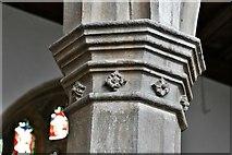TL8866 : Great Barton: Holy Innocents Church: Nave capital by Michael Garlick