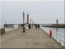 NZ8911 : West pier, Whitby by Malc McDonald