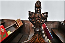TL8866 : Great Barton: Holy Innocents Church: Finely carved poppyhead 18 by Michael Garlick