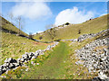 SK1866 : Grassy road rising out of Lathkill Dale by Trevor Littlewood