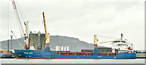 "J3576 : The ""Fehn Light"", Belfast harbour (March 2019) by Albert Bridge"