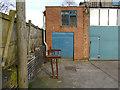 SJ8657 : Industrial building, Church Lane, Mow Cop (detail) by Stephen Craven
