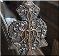 TF0638 : Poppy head, Ss Peter & Paul church, Osbournby by Julian P Guffogg