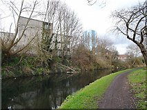 SJ9400 : Canalside Flats by Gordon Griffiths