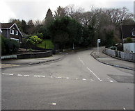 ST2896 : West along Mynydd Maen Road, Cwmbran by Jaggery