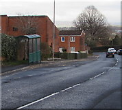 ST2896 : Mount Pleasant Road bus stop and shelter, Cwmbran by Jaggery