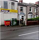ST2896 : Gaia Movement donations bin, Five Locks Road, Cwmbran by Jaggery