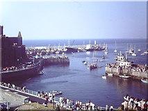 SC2484 : Peel Harbour Odin's Raven entering inner harbour by John Stephen