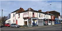 SJ9495 : Shops on Manchester Road, Hyde by Chris Morgan