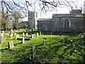 TF3691 : The burial ground at Alvingham Mill that serves two churches by Peter Wood