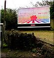ST0789 : Sky Mobile advert alongside the A473 Broadway, Treforest by Jaggery