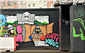 "J3374 : ""Homeless"" street art, North Street, Belfast (March 2019) by Albert Bridge"