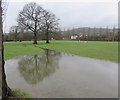 ST2997 : Waterlogged recreation ground, Pontrhydyrun, Cwmbran by Jaggery