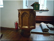 SO2160 : St. Mary's Church (Pulpit   New Radnor) by Fabian Musto