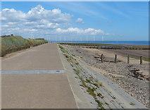 NZ6124 : England Coast Path along Redcar Promenade by Mat Fascione