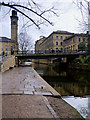 SE1338 : Leeds and Liverpool Canal approaching Saltaire Mills from the east by David Dixon