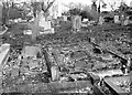 TG2408 : Weathered graves in the new part of Rosary Cemetery by Evelyn Simak