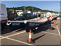 SX9372 : Racing gigs parked up near the Point, Teignmouth by Robin Stott