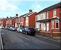 ST2089 : Brick semis, The Crescent, Machen by Jaggery