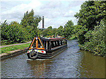 SJ8842 : Canal cruising south of Stoke-on-Trent by Roger  Kidd