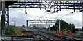 SJ8746 : Railway line in Stoke-on-Trent by Roger  Kidd