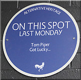 TA0831 : Alternative Heritage Blue Plaque by Ian S