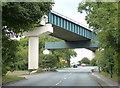 NZ7019 : Railway bridge across the A174 Mill Bank by Mat Fascione