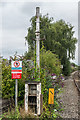 SO5175 : Old lamppost, Ludlow Station by Ian Capper