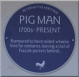 TA1431 : Alternative Heritage Blue Plaque by Ian S