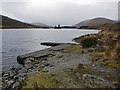 NH1053 : Jetty on Loch Sgamhain by Richard Dorrell