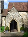 TQ4857 : St Botolph's Church Door in Chevening by John P Reeves