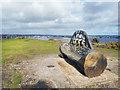 SZ1790 : Carved Seat, Hengistbury Head by Des Blenkinsopp