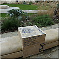 SO8318 : Commemorative seat in Cathedral Close, Gloucester by Rudi Winter