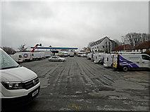 NG6423 : A lot of vans by Richard Dorrell