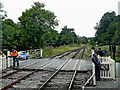 SJ9852 : Level crossing (2) at Cheddleton in Staffordshire by Roger  Kidd